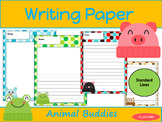 Writing Paper : Animal Buddies : Standard Lines