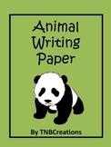 Animal Writing Paper