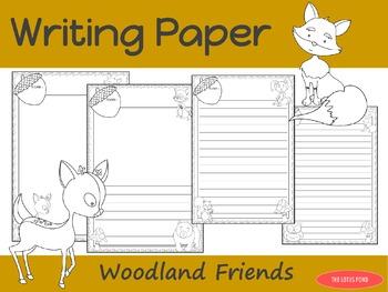 Writing Paper : Woodland Friends : Standard Lines
