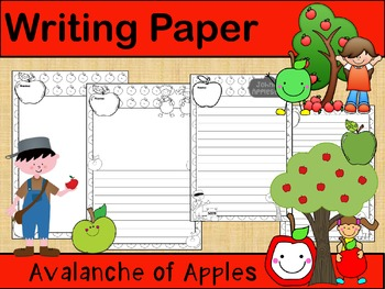 Writing Paper : Avalanche of Apples :: Standard Lines : BW