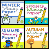 Writing Paper BUNDLE! Paper with handwriting lines for all 4 seasons!