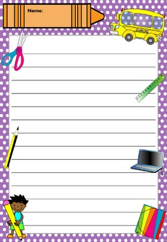 Writing Paper : Back to School : Standard Lines