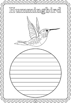 Writing Paper : Birds of Spring