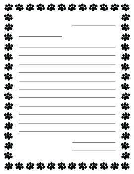 Writing Paper-Blank Lined & Letter Format