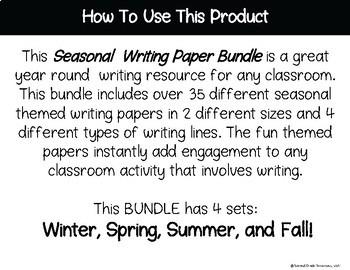 Writing Paper Bundle: Seasonal SUPER Bundle