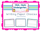 Differentiated Writing Paper Choices for Writing Workshop