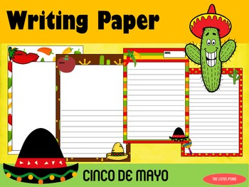 Writing Paper : Cinco de Mayo : Standard Lines