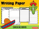 Writing Paper : Cinco de Mayo : Standard Lines : BW
