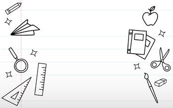 Writing Paper Classroom Background - ESL Online Teaching