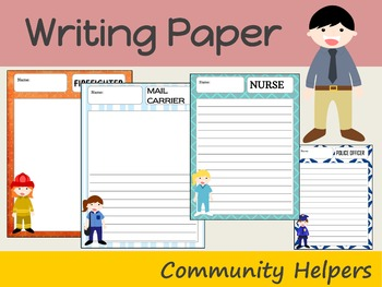 Writing Paper : Community Helpers 2 : Standard Lines