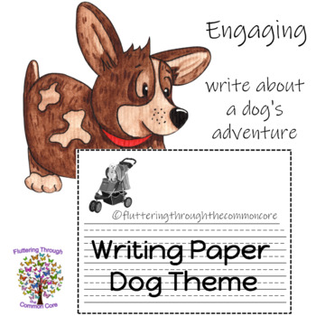 Writing Paper Dog Theme