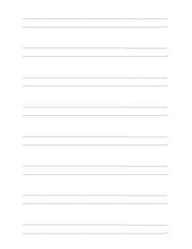 Writing Paper- Double Lines