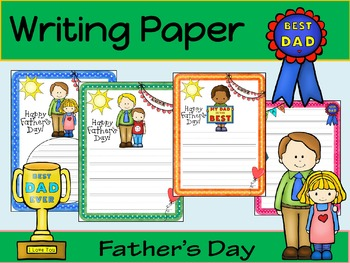 Writing Paper : Father's Day : Primary Lines
