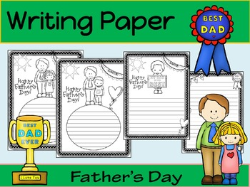 Writing Paper : Father's Day : Standard Lines : BW
