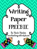 Writing Paper Freebie
