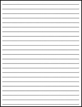 Writing Paper Freebie