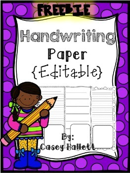 editable handwriting paper Printable primary handwriting paper for kids we have a variety of free lined paper including portrait, landscaper, with a spot for a picture and more.