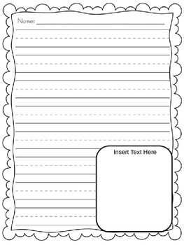 Writing Paper Freebie {Editable}  Lined Border Paper