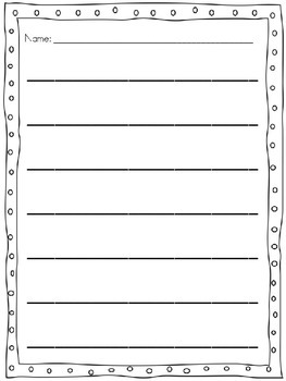 Editable lined paper