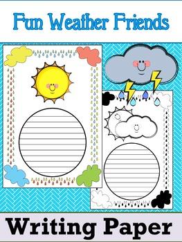 Writing Paper : Fun Weather Friends