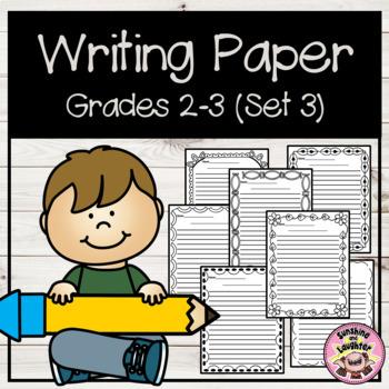 Writing Paper - Grades 2-3  (Set 3)