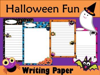 Writing Paper : Halloween Fun : Standard Lines