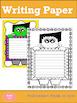 Writing Paper : Halloween Peek-a-boo