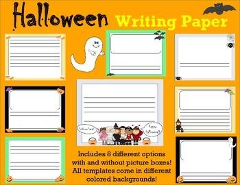 horizontal Halloween Writing Paper