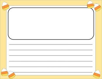 Halloween Writing Paper horizontal