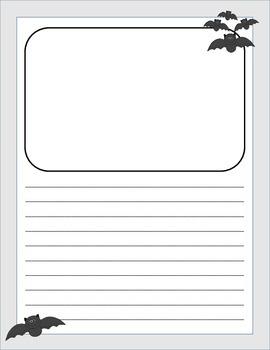 vertical Halloween Writing Paper