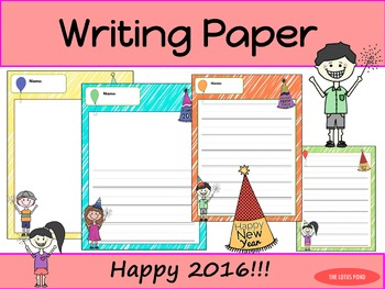 Writing Paper : Happy New Year 2016