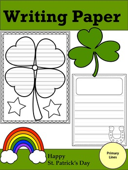 Writing Paper : Happy St. Patrick's Day : Primary Lines