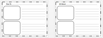 Writing Paper Templates for How To, All About and Sequencing