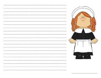 Writing Paper: I am thankful for - Papel de escritura: Estoy agradecido por