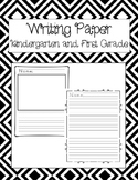 Writing Paper Kindergarten & First Grade