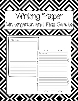 Writing Paper Kindergarten & First Grade