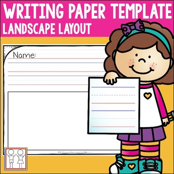 Writing Paper Lined Landscape by Catherine S | Teachers Pay Teachers