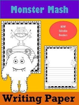 Writing Paper : Monster Mash : Standard Lines