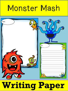 Writing Paper : Monster Mash 2 : Standard Lines : Color