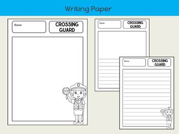 Writing Paper : My Community Helpers 1 : Standard Lines BW