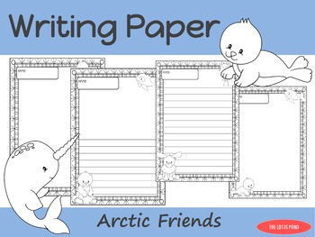 Writing Paper : Arctic Friends : Standard Lines