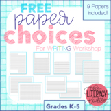 Writing Paper Pack - Lines, Drawing Boxes and Letter Writing