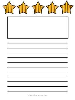 Writing Paper Packet - Stars