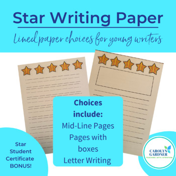 Star Student:Writing Paper Packet