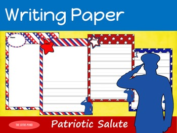 Writing Paper : Patriotic Salute : Primary Lines