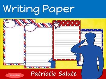 Writing Paper : Patriotic Salute : Standard Lines