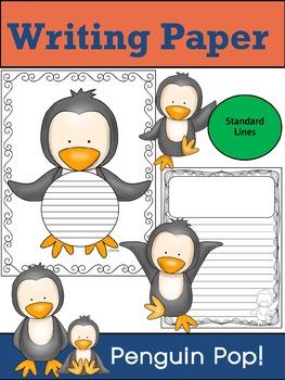 Writing Paper : Penguin Pop! : Standard Lines