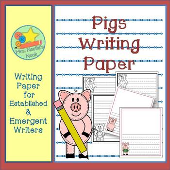 Writing Paper Templates - Pig Theme