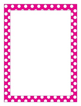 Writing Paper: Pink Dots! Blue Dots! Black Dots!