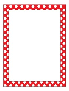 Writing Paper: Polka-Dots! Three Different Colors, Red, Blue, and Purple